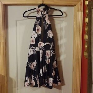 Size S floral halter dress